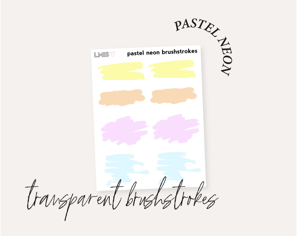 Brushstrokes Full Transparent Sticker Collection