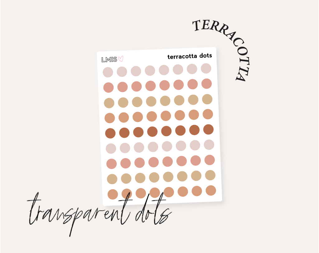 Dots Full Transparent Sticker Collection
