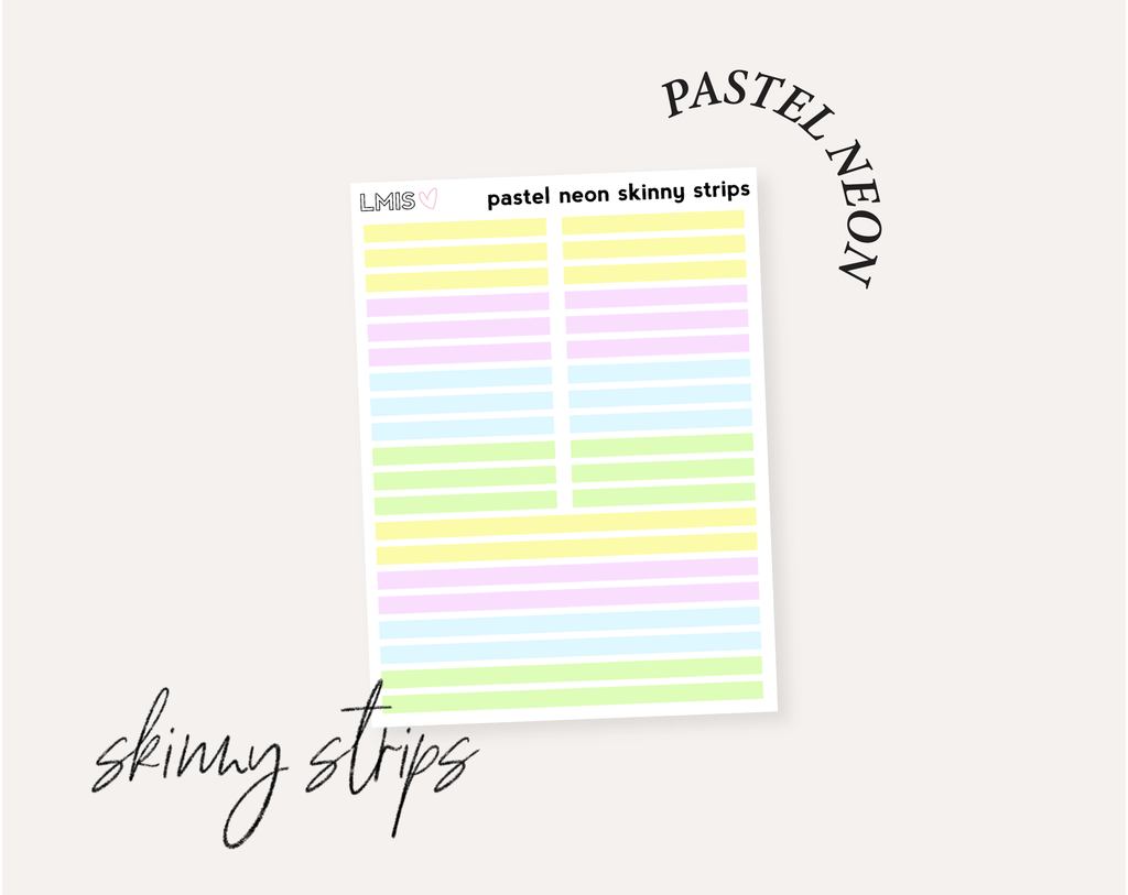 Pastel Neon Full Transparent Sticker Collection