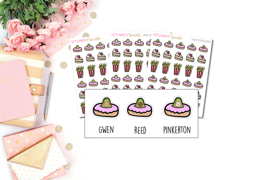 Food Doodle AvoBabe Planner Stickers - Grab these stickers for your planner and let's get to it! - Let's Make It Sparkle