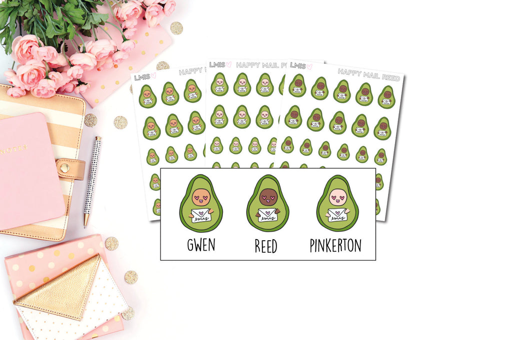 Happy Mail AvoBabe Planner Stickers - Grab these stickers for your planner and let's get to it! - Let's Make It Sparkle