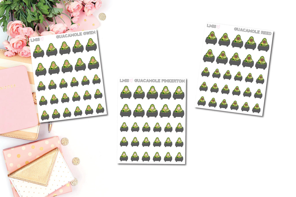 Guacamole AvoBabes Planner Stickers - Grab these stickers for your planner and let's get to it! - Let's Make It Sparkle