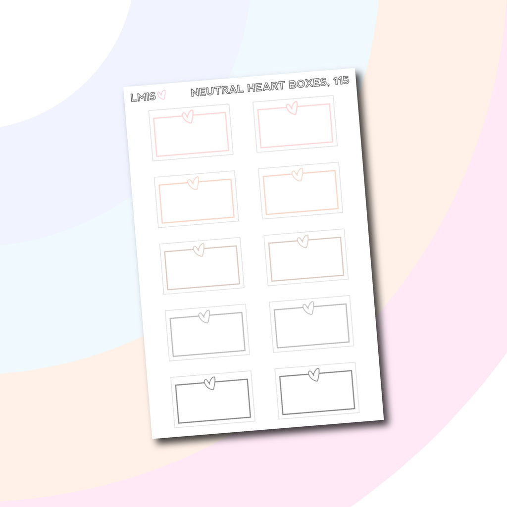 Heart Half Box Planner Stickers // 115 - Grab these stickers for your planner and let's get to it! - Let's Make It Sparkle