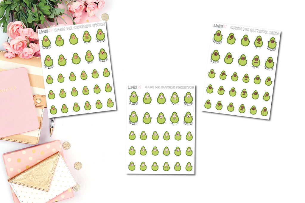 Cash Me Outside AvoBabes Planner Stickers - Grab these stickers for your planner and let's get to it! - Let's Make It Sparkle