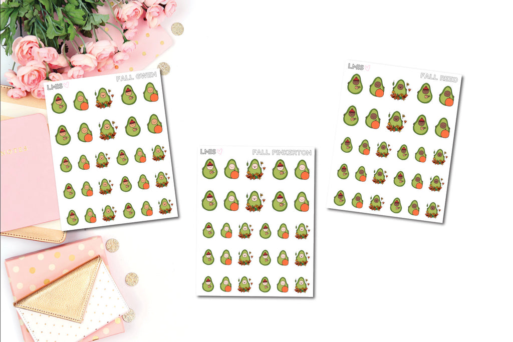 Fall/Autumn AvoBabes Planner Stickers - Grab these stickers for your planner and let's get to it! - Let's Make It Sparkle