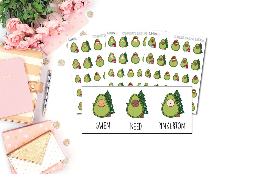 Christmas/Winter AvoBabes Planner Stickers - Grab these stickers for your planner and let's get to it! - Let's Make It Sparkle