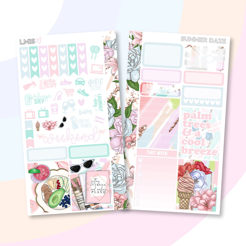 Summer Daze Personal Planner Sticker Kit for Traveler's Notebooks, TNs and Personal Planners - Grab these stickers for your planner and let's get to it! - Let's Make It Sparkle