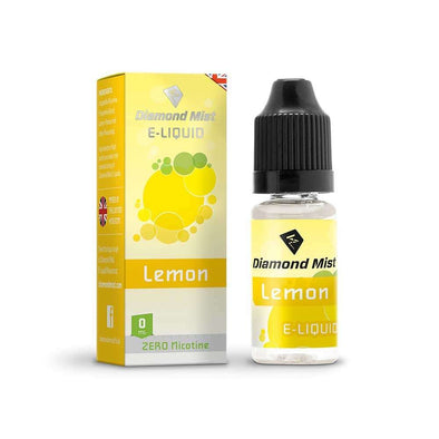Diamond Mist E-Liquid Lemon 10ml - 0mg Nicotine Free