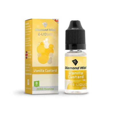 Diamond Mist E-Liquid Dripper Vanilla Custard 10ml - 0mg Nicotine Free