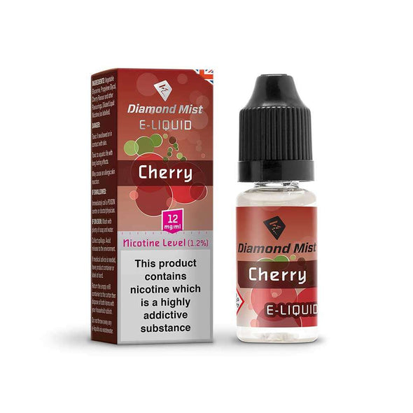 Diamond Mist E-Liquid Cherry 10ml - 12mg Nicotine