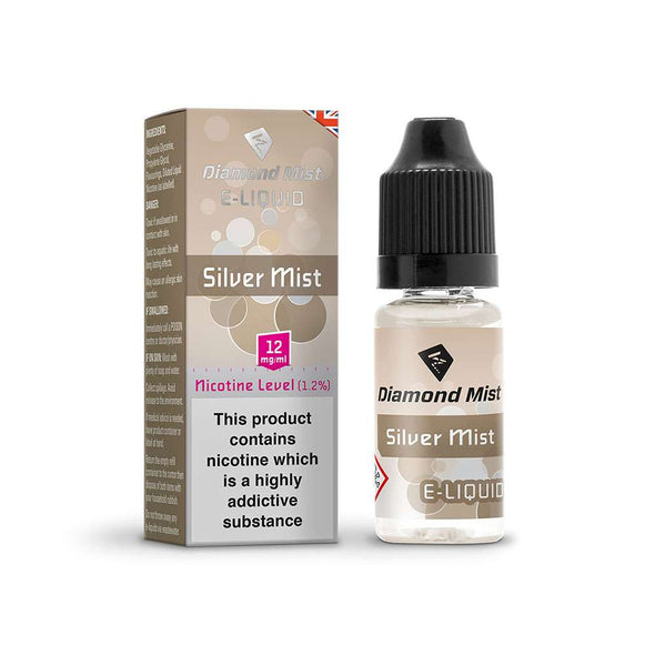 Diamond Mist E-Liquid Silver Mist 10ml - 12mg Nicotine