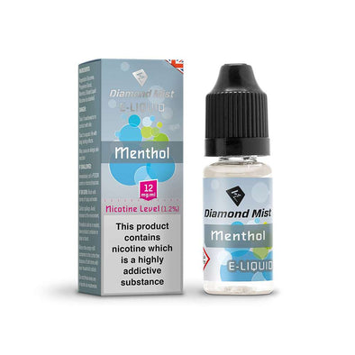 Diamond Mist E-Liquid Menthol 10ml - 12mg Nicotine