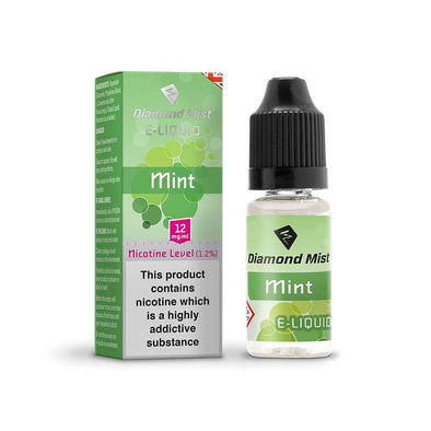 Diamond Mist E-Liquid Mint 10ml - 12mg Nicotine