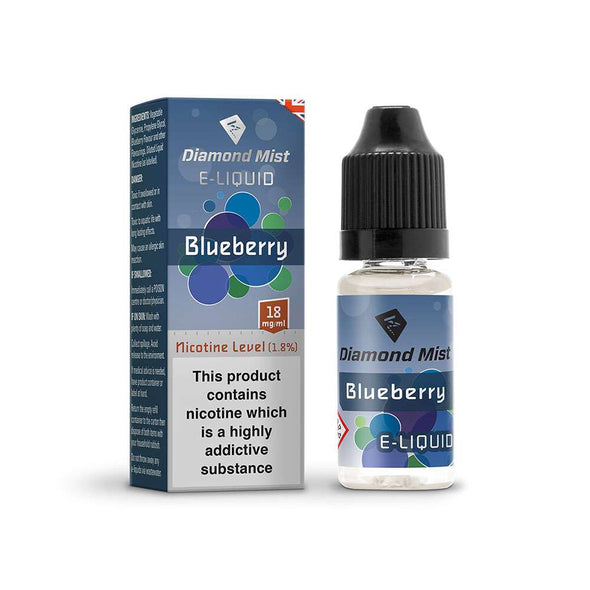 Diamond Mist E-Liquid Blueberry 10ml - 18mg Nicotine