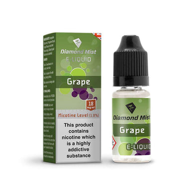 Diamond Mist E-Liquid Grape 10ml - 18mg Nicotine