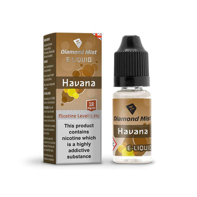 Diamond Mist E-Liquid Havana 10ml - 18mg Nicotine