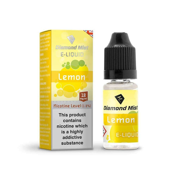 Diamond Mist E-Liquid Lemon 10ml - 18mg Nicotine