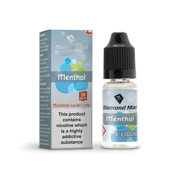 Diamond Mist E-Liquid Menthol 10ml - 18mg Nicotine