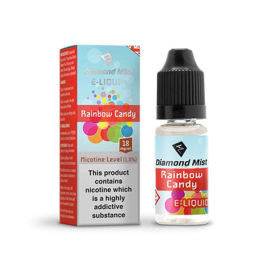 Diamond Mist E-Liquid Rainbow Candy Flavour 10ml - 18mg Nicotine