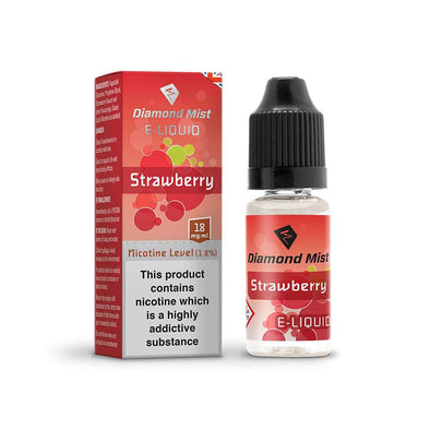 Diamond Mist E-Liquid Strawberry 10ml - 18mg Nicotine