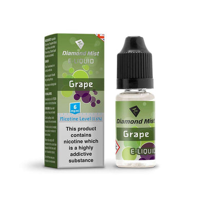 Diamond Mist E-Liquid Grape 10ml - 6mg Nicotine
