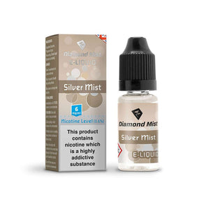 Diamond Mist E-Liquid Silver Mist 10ml - 6mg Nicotine