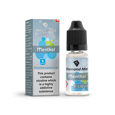 Diamond Mist E-Liquid Menthol 10ml - 6mg Nicotine