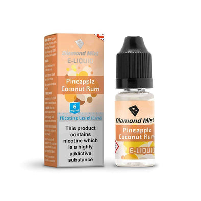Diamond Mist E-Liquid Pineapple Coconut Rum 10ml - 6mg Nicotine