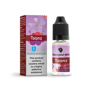 Diamond Mist E-Liquid Toonz 10ml - 6mg Nicotine