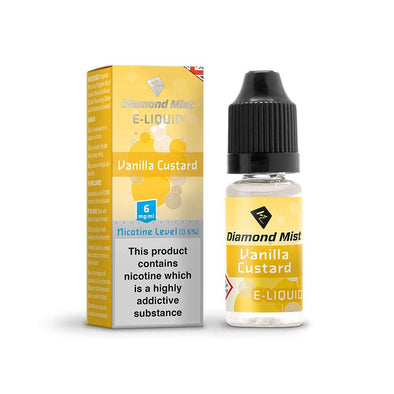 Diamond Mist E-Liquid Vanilla Custard 10ml - 6mg Nicotine