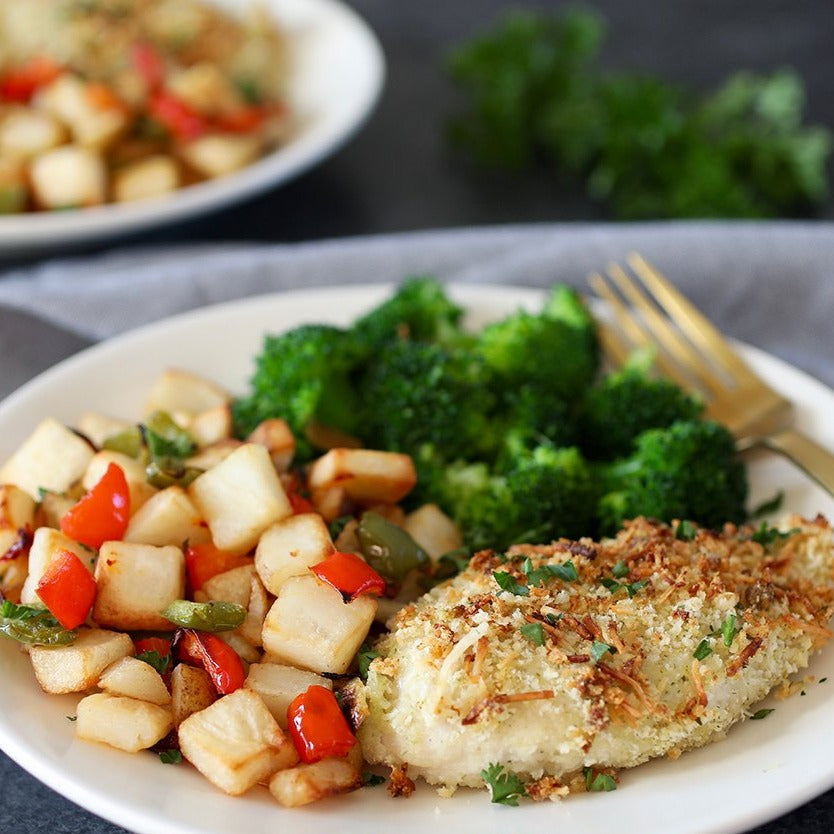 Asiago Ranch Chicken with Roasted Potatoes