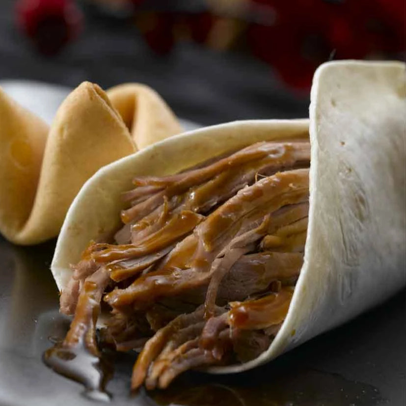 Asian Barbequed Pork Wraps