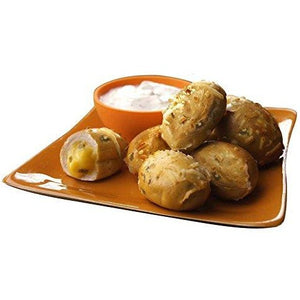 Cheddar Pretzel Poppers with Honey Mustard Sauce