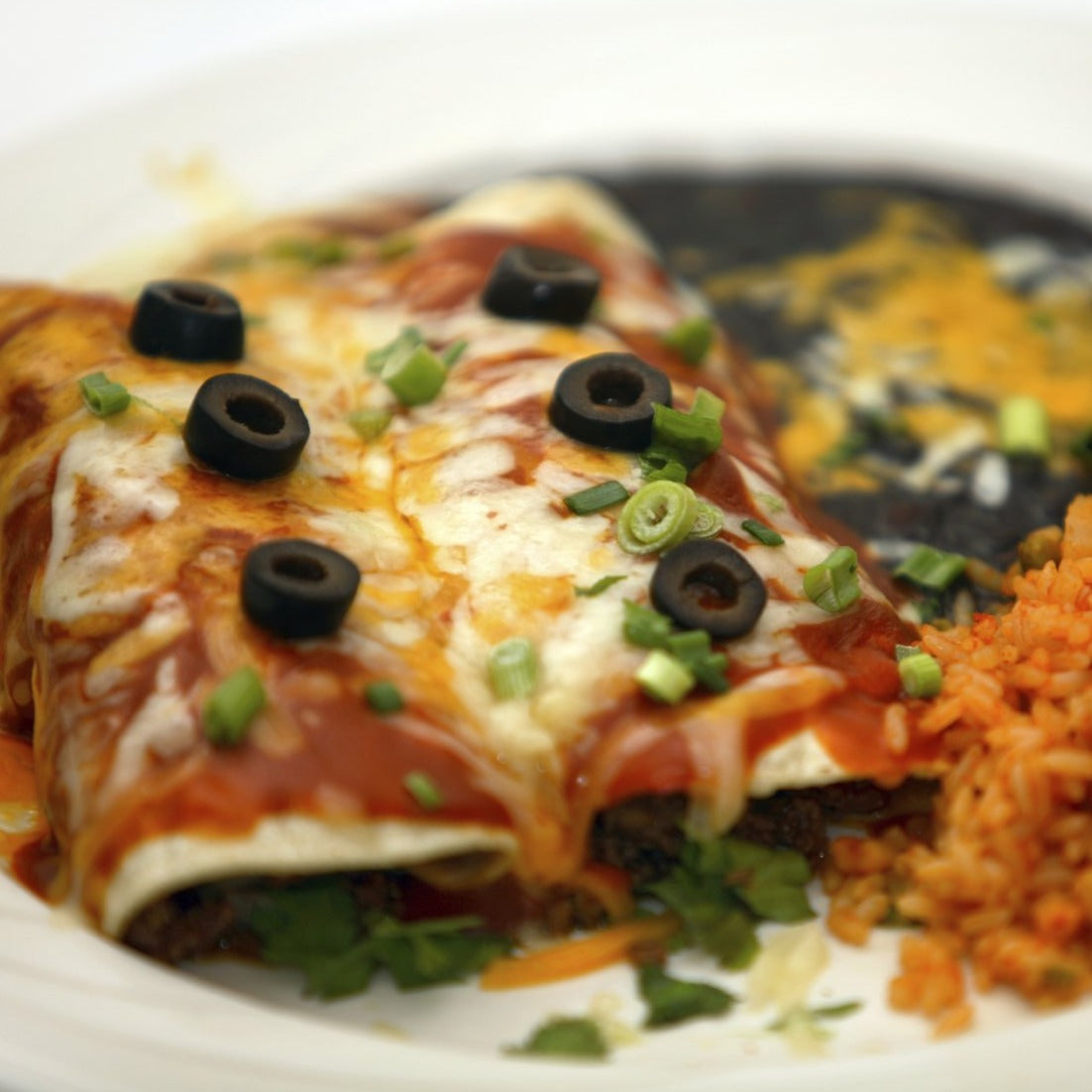 Cheesy Chipotle Black Bean Enchiladas