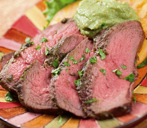 Cilantro-Lime Marinated Flank Steak with Chimichurri