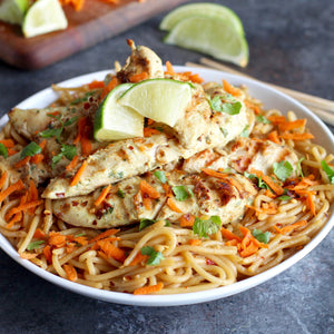 Coconut Lime Chicken with Stir Fried Asian Noodles
