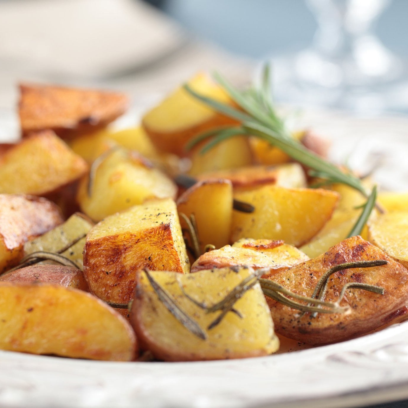 Grilled Potatoes with Rosemary and Parmesan