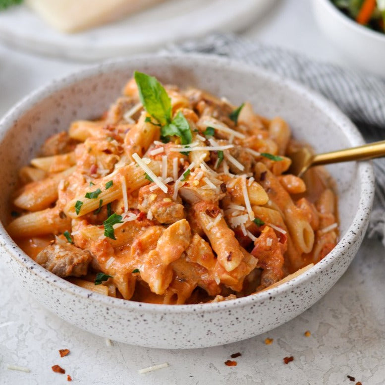 Penne alla Vodka with Chicken and Sausage