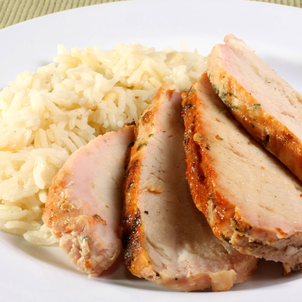 Maple Balsamic Pork Tenderloin with Rice
