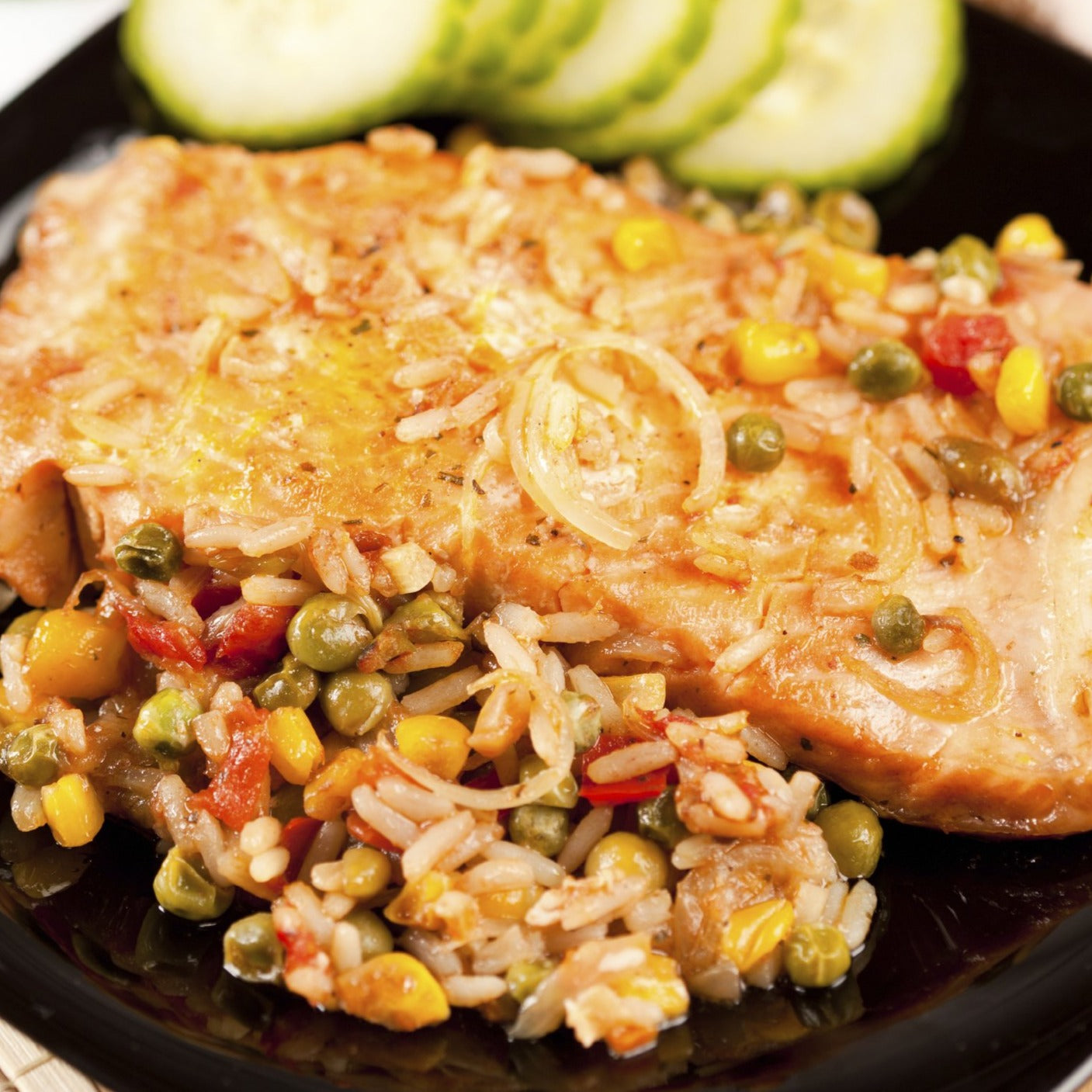 Santa Fe Style Whitefish with Roasted Corn and Black Bean Rice