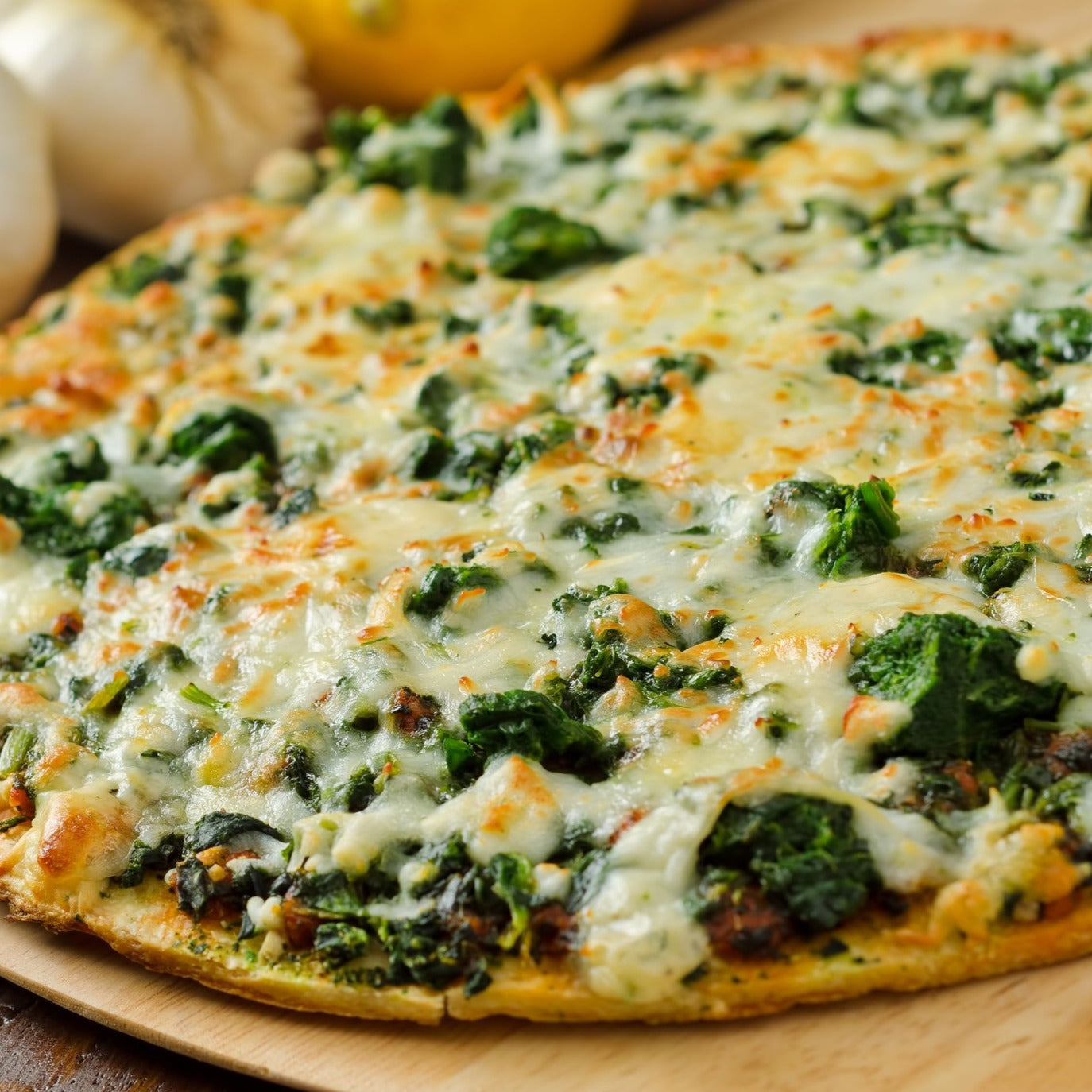 Spinach Artichoke Cauliflower Crust Pizzas