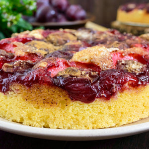 Swedish Almond Cake with Cherry Sauce