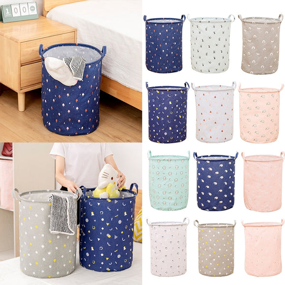 Large Folding Laundry Basket Dirty Clothes Kids Toys Storage Basket Home Organizer Storage Barrel Laundry Bucket With Handles