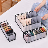 3Pcs New Underwear Bra Organizer Storage Box 2 Colors Drawer Closet Organizers Boxes For Underwear Scarfs Socks Bra Hot Sale