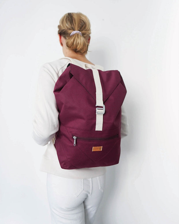 MULINU Daypack BERTA Bordeaux Model Backpack