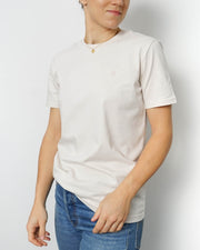 Basic Unisex T-shirt Embroidery Vanilla