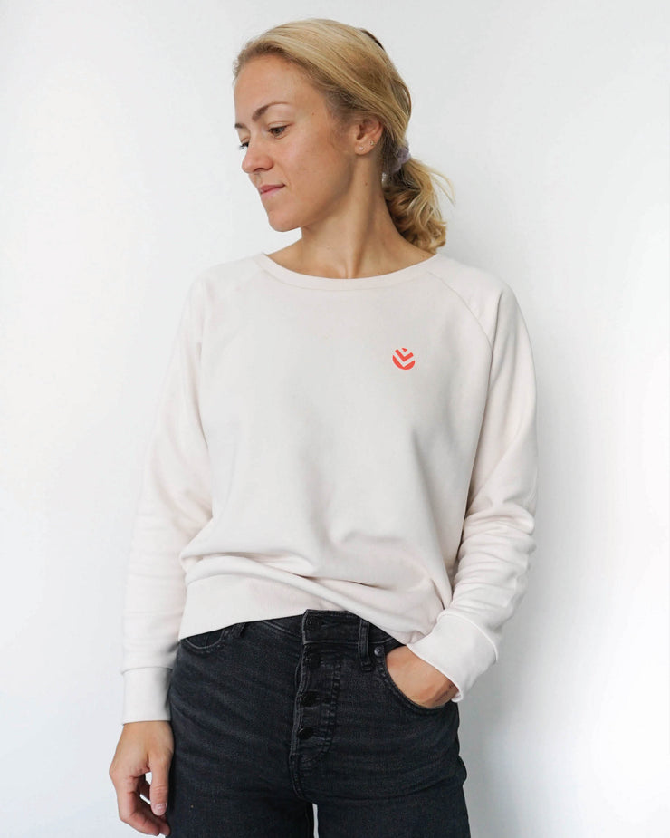 Relax Sweater Vanilla Neon Orange