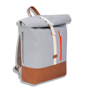 ALBERT 2 UNIQUE Lightgrey Leather Neon Orange