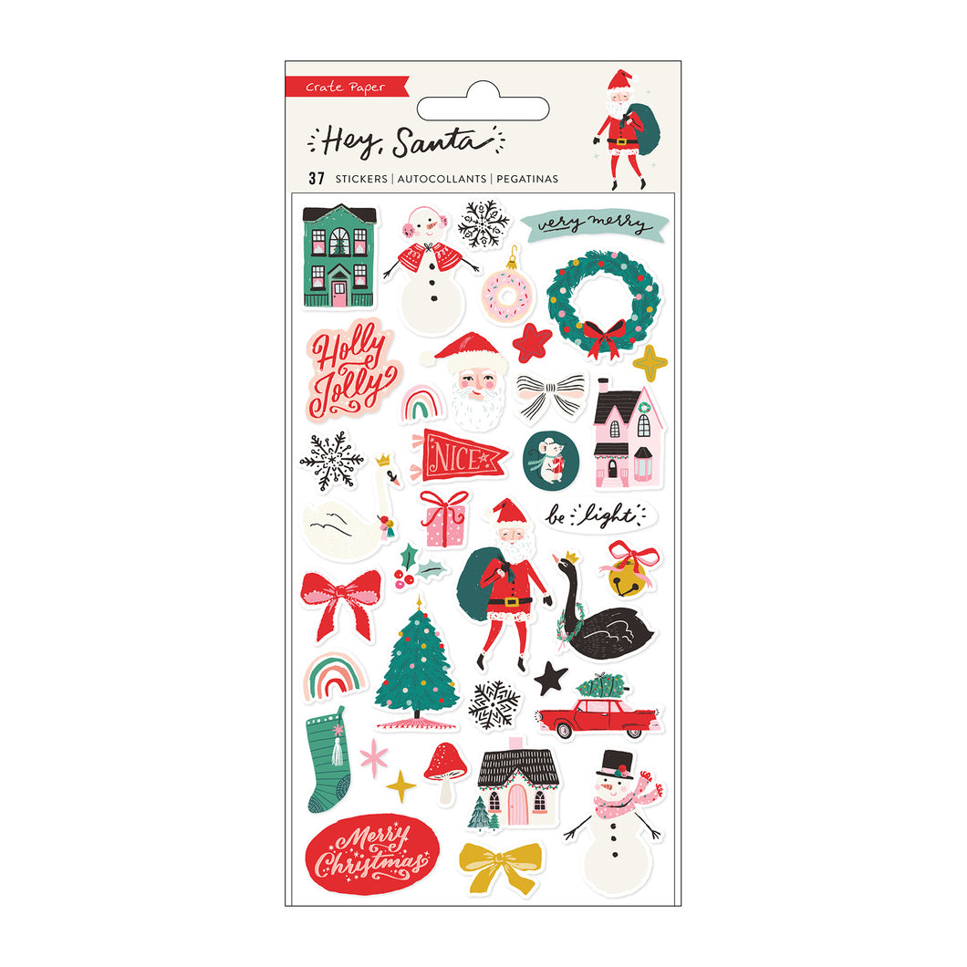Hey, Santa Puffy Stickers