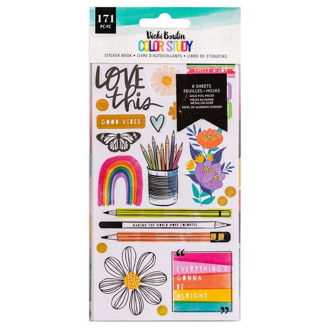 Color Study Sticker Book
